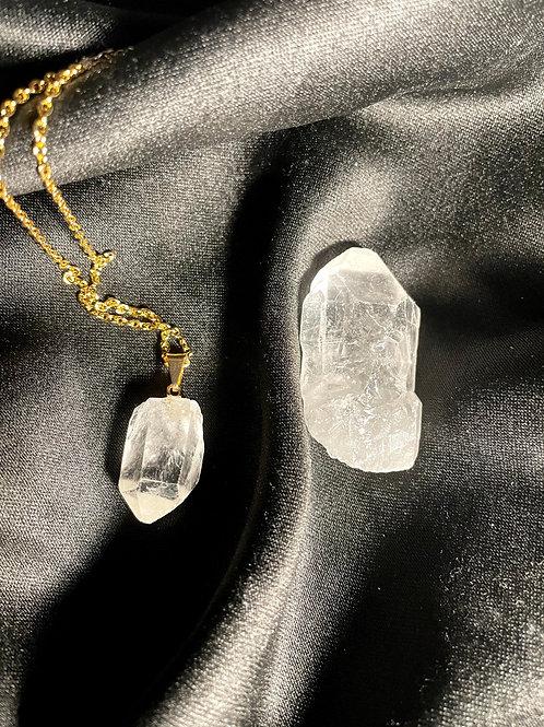 Clear Quartz Necklace w/Crystal