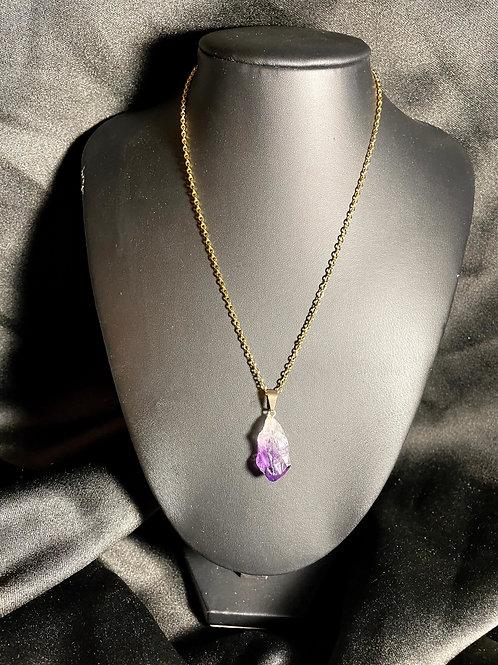 Amethyst Crystal Chain (Gold)