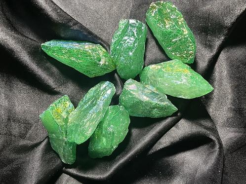 Green Aura Quartz Point