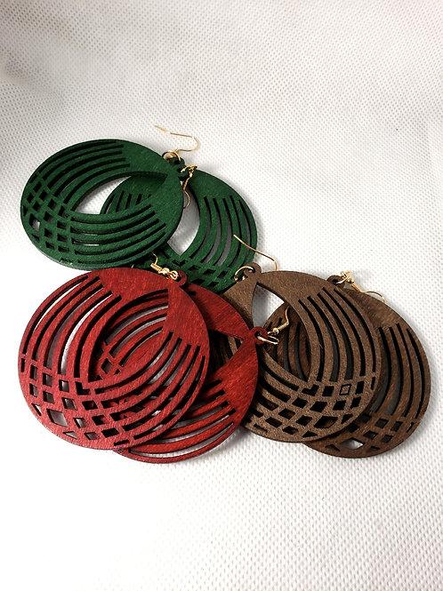 Circle Wood Earrings