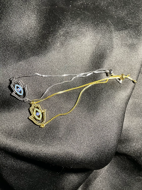 Hamsa X Evil Eye Bracelet