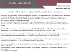 Junta Federal de Conciliación y Arbitraje atenderá la celebración de convenios colectivos