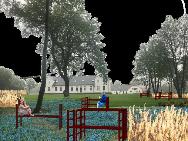 Modules I Garden playground & ad hoc picknick area I Photomontage be Rural Agentur