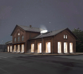 Rendering | Transformation into a radically open public space, a 24/7 open gallery