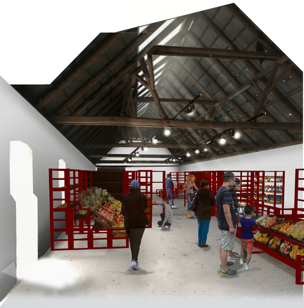 Modules I Market I Photomontage by Rural Agentur