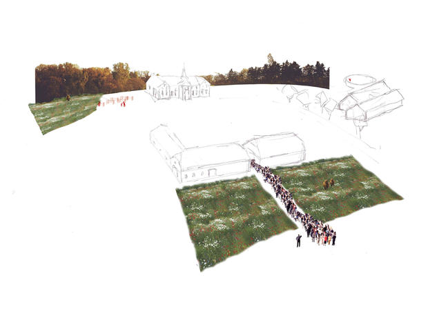 """The farm as new social and economical """"machine"""" I Collage by Rural Agentur"""