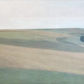 """Remote sensing"" landscape | painting by Ejner Nielsen 1900"