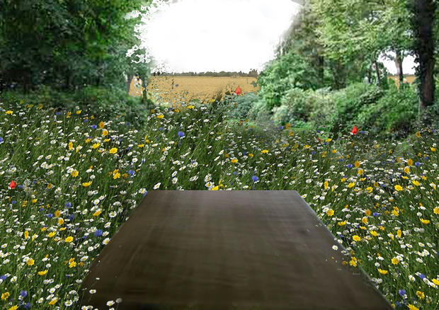 Entrance to permaculture garden I Photomontage by Rural Agentur