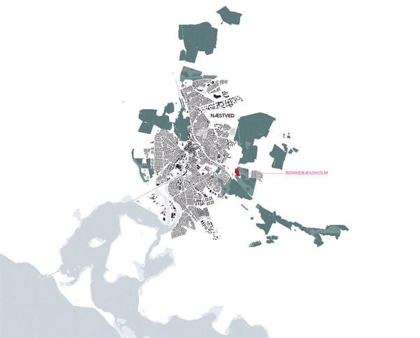 Map | Rønnebæksholm and Næstved city