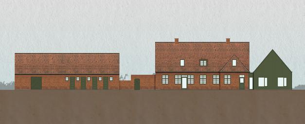 Collage | back facade