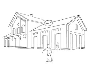 Concept drawing | Opening up the building
