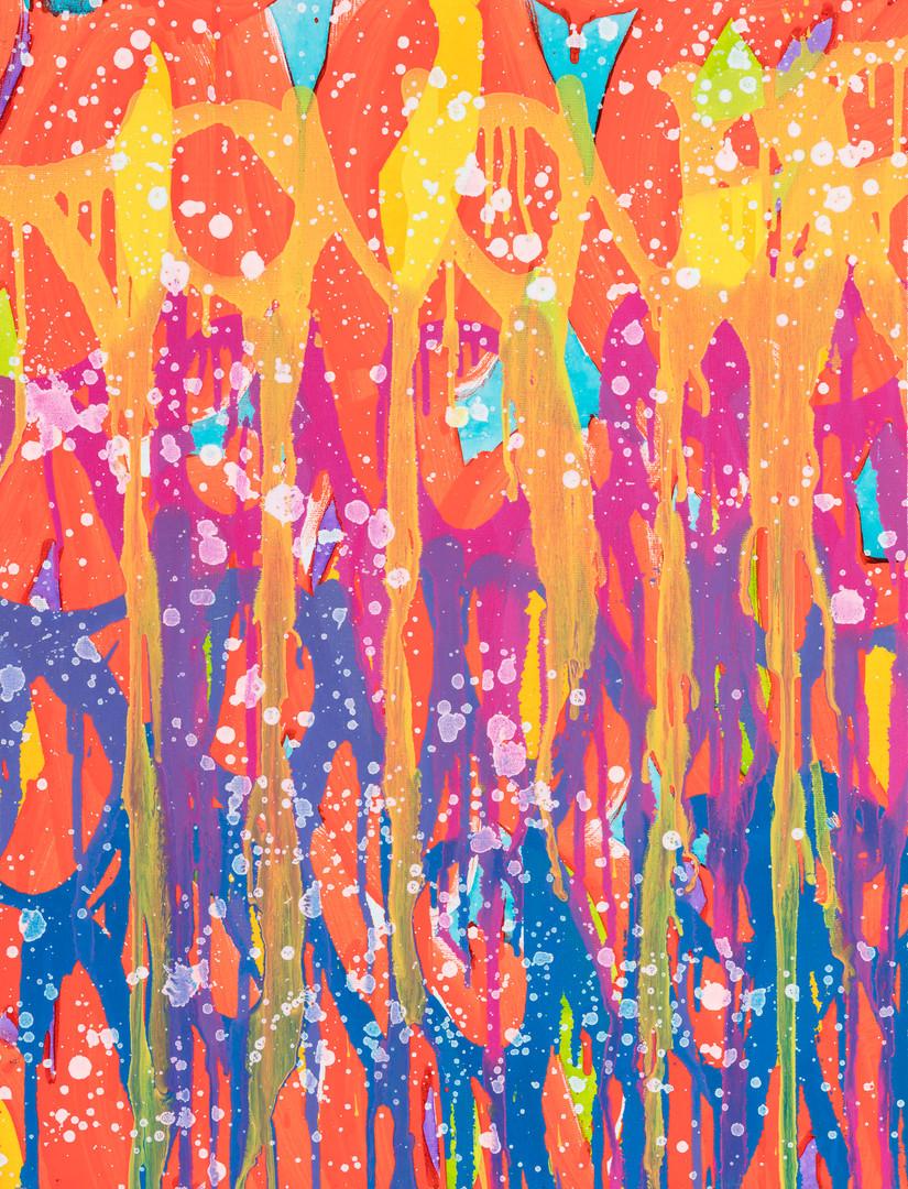 2021-Colorful Ways, acrylique et encre s