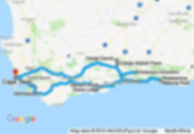 8 Day Cape Town and Garden Route Private Tour Map