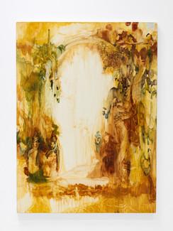 """Garden Arch, 2021, 65"""" x 48"""", oil on canvas"""