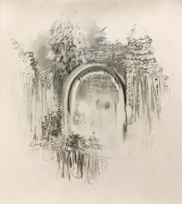 Rainbow Valley, Graphite and charcoal on