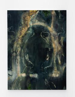 "Three Arches, 2021, 65"" x 48"", oil on canvas"