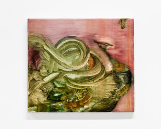 """Serpent, 2021, 14"""" x 16"""", oil on canvas"""