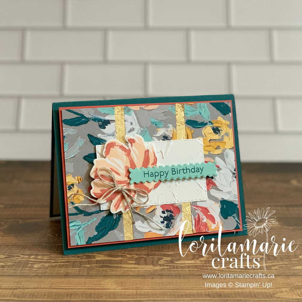 Stampin' Up! Canada gilded leafing fine art floral