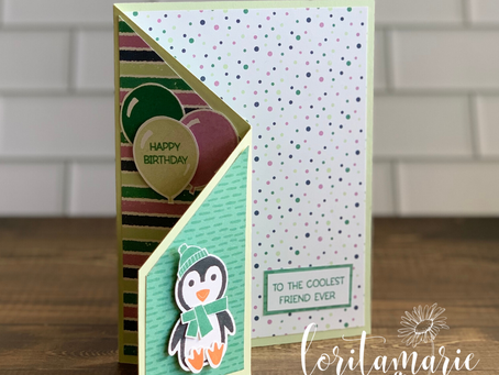 Tapering Trifold Card with the Penguin Place Bundle