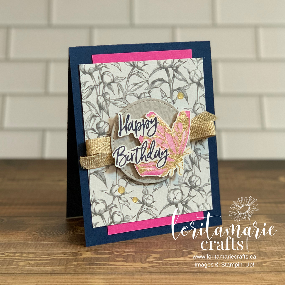 stampin' up! canada gilded leafing