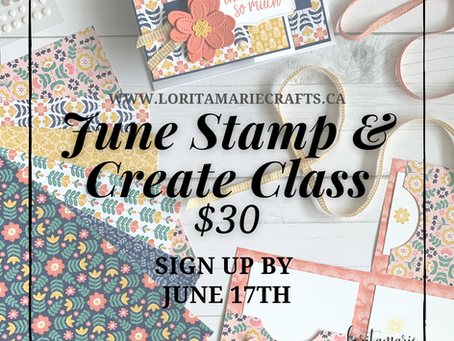 June Stamp & Create Class to Go