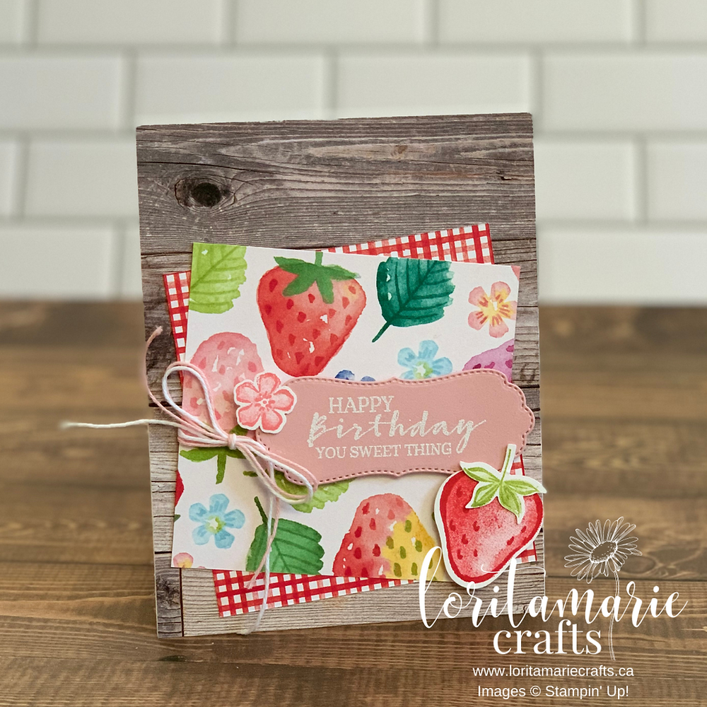 Stampin' Up!'s Sweet Strawberry Bundle & Berry Delightful DSP