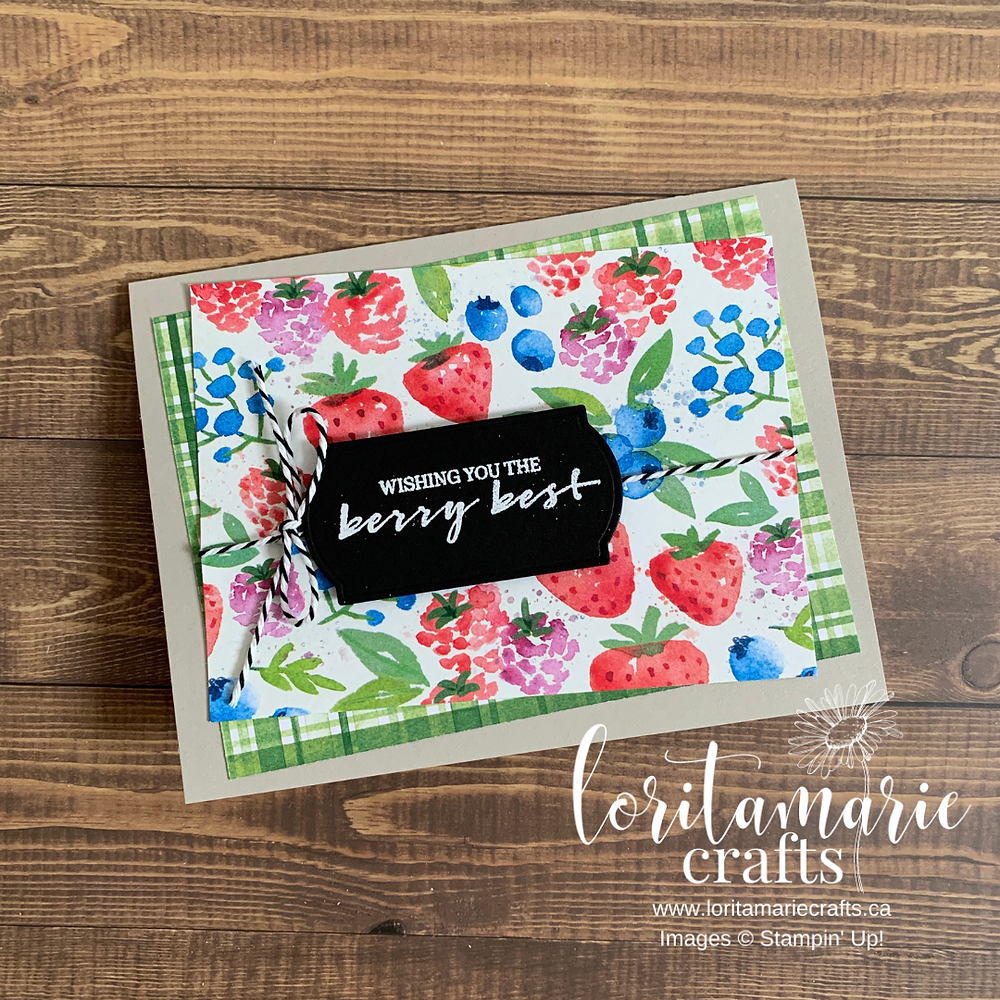 Stampin' Up! Canada Sale-a-bration Berry Blessing Berry Delightful DSP