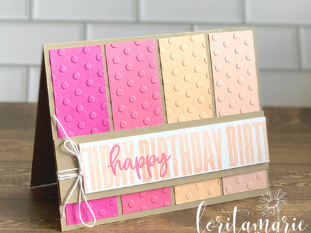 Make a Card with the Checks & Dots Embossing Folders!