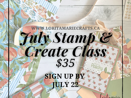 July Stamp & Create Class to Go