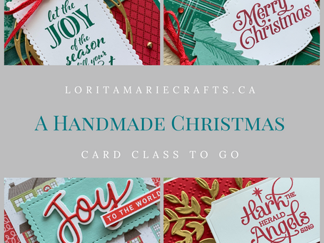 A Handmade Christmas: Stampin' Up! Christmas Card Class to Go