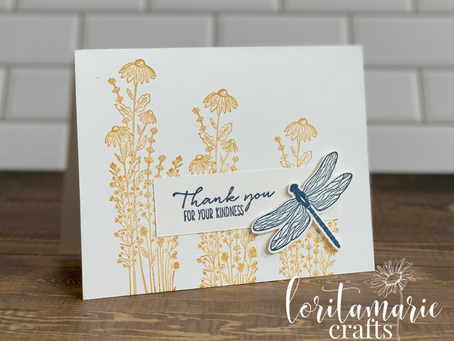 Simple Stamping with the Dragonfly Garden Bundle