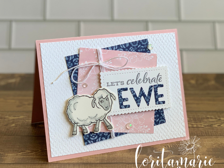 Sweet Baby Card with Sale-a-Bration's Counting Sheep