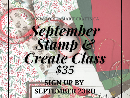 September Stamp & Create Class to Go