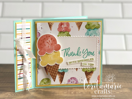 Book Binding Card with Sweet Ice Cream Bundle
