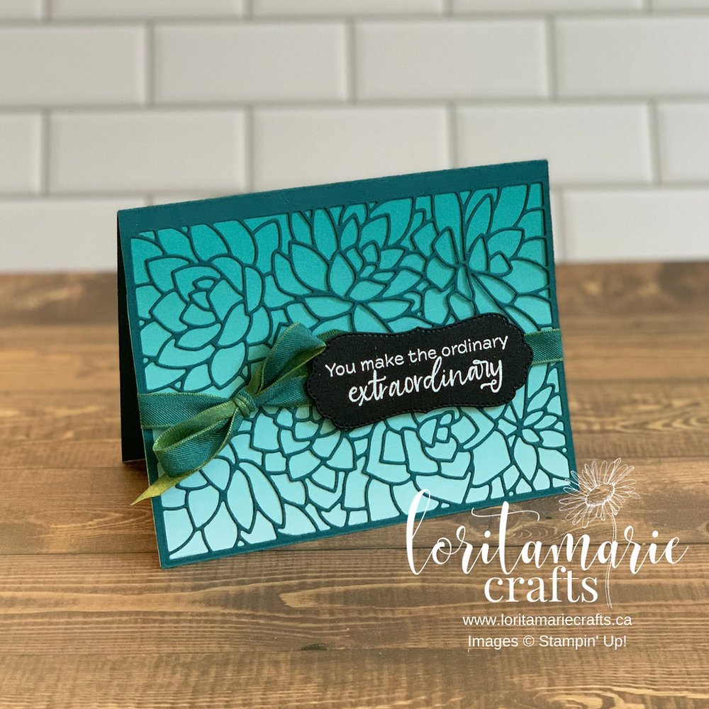 Simply Succulents Stampin' Up! Oh So Ombre