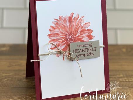 Sympathy Card with Delicate Dahlias