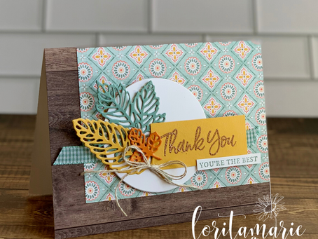 Fall Thank You Card with Intricate Leaves