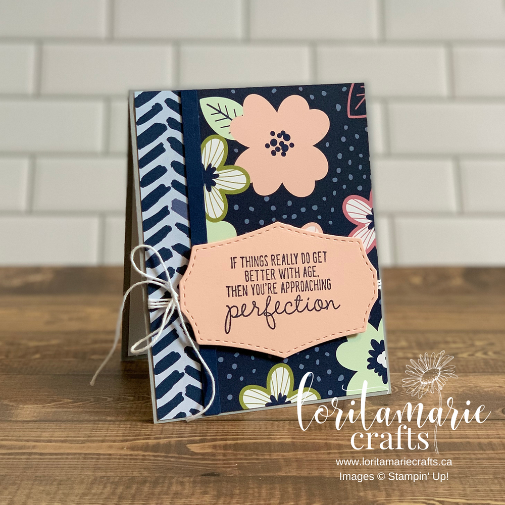 Paper Blooms DSP and Approaching Perfection Stampin' Up!