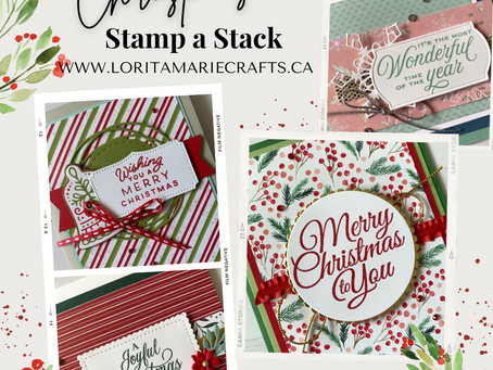 Christmas Stamp a Stack Class