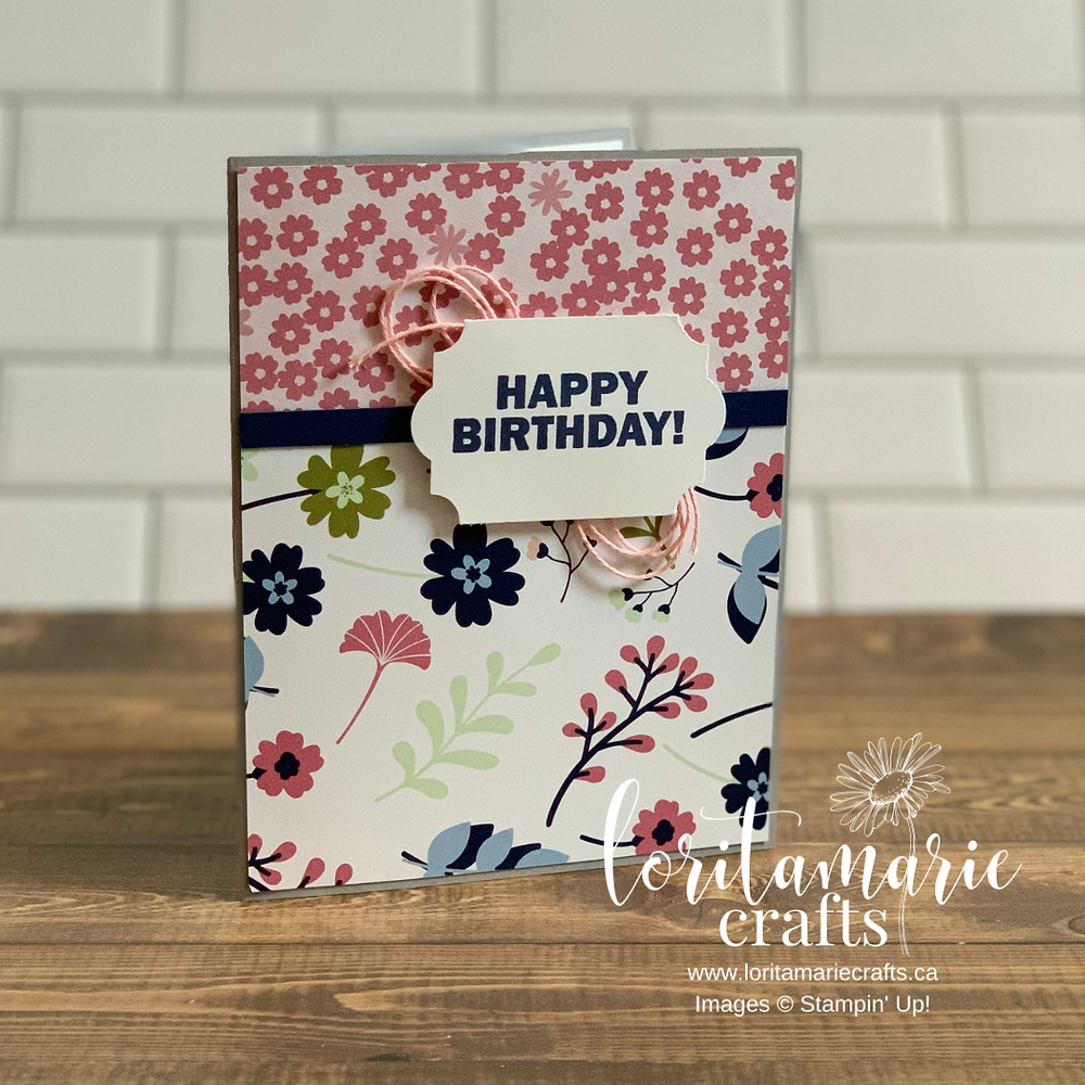 Paper Blooms DSP Approaching Perfection Stamp Set Stampin' Up!
