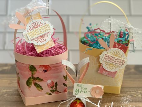Quick Easter Basket and Easter Bunny Favour