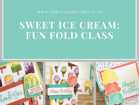 Sweet Ice Cream Fun Fold Class