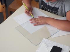 Création d'un tangram en plexiglas