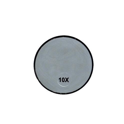 Espelho de Aumento 10x - Ventosas Fixadoras