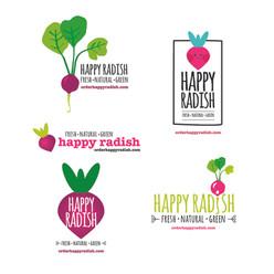 Happy Radish Identity
