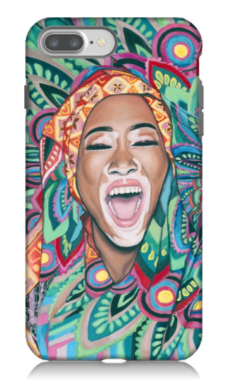 """Wrapped in Life Affirming Colours"" - Phone Case"