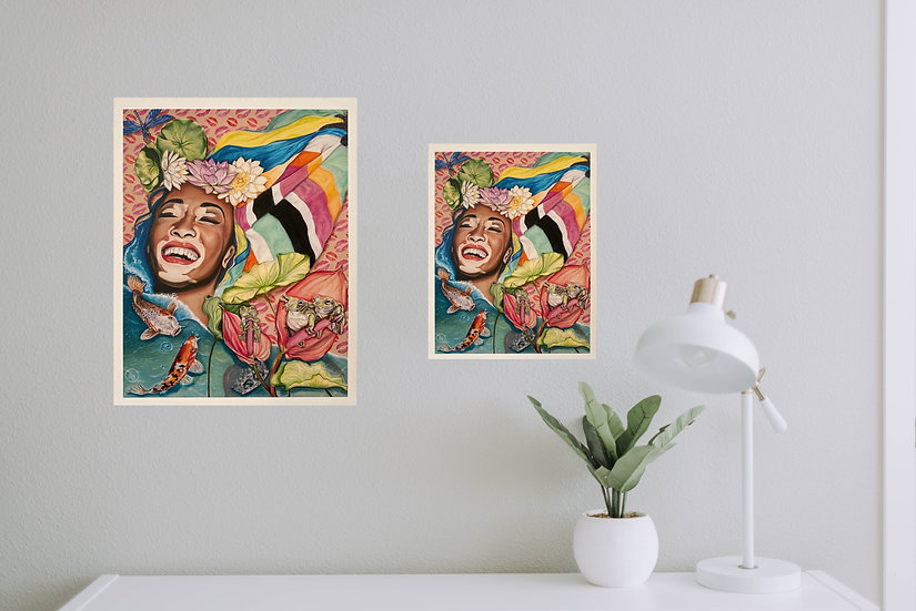 """Laughing at Prince Charming"" - Eco Prints"