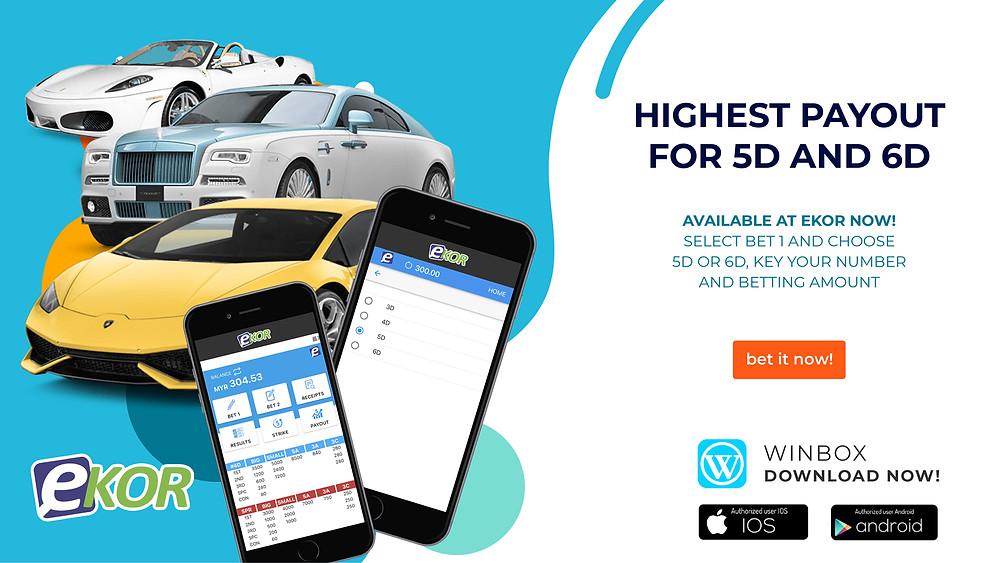 WINBOX Casino Malaysia Lottery Ekor 3D|4D|5D|6D