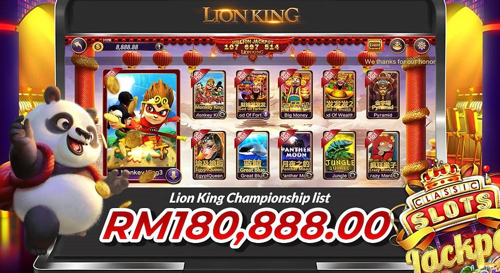 Lion King Championship Slots Games Malaysia