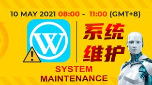 WINBOX Maintenance Notice 09-May-21